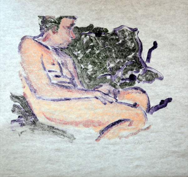 Bacchus Resting on Sofa by R. David Wilson